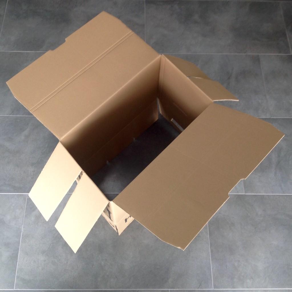 Abbildung 2 - Umzugskarton aufbauen